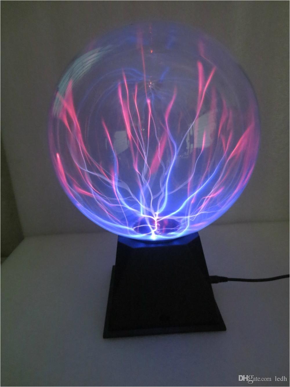 novelty glass magic plasma ball light glass christmas balls decorative lava lamp kid novelty lights touch sensor sphere night light 6 inch
