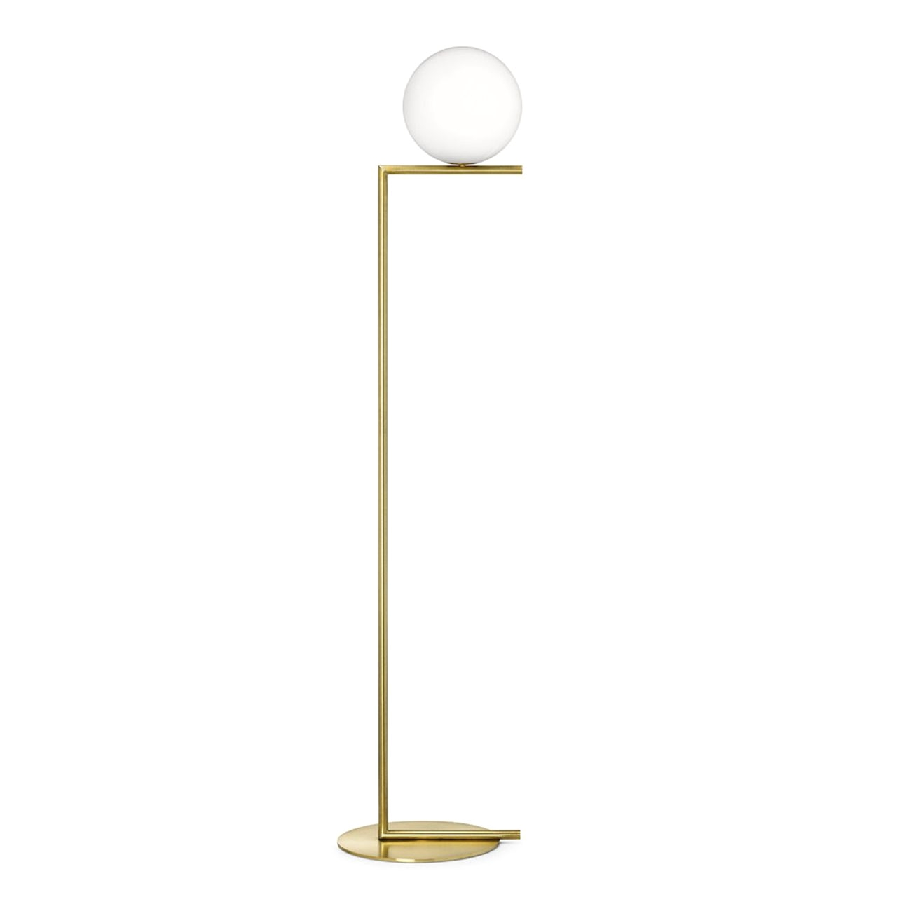 buy flos ic lights floor lamp brass by michael anastassiades