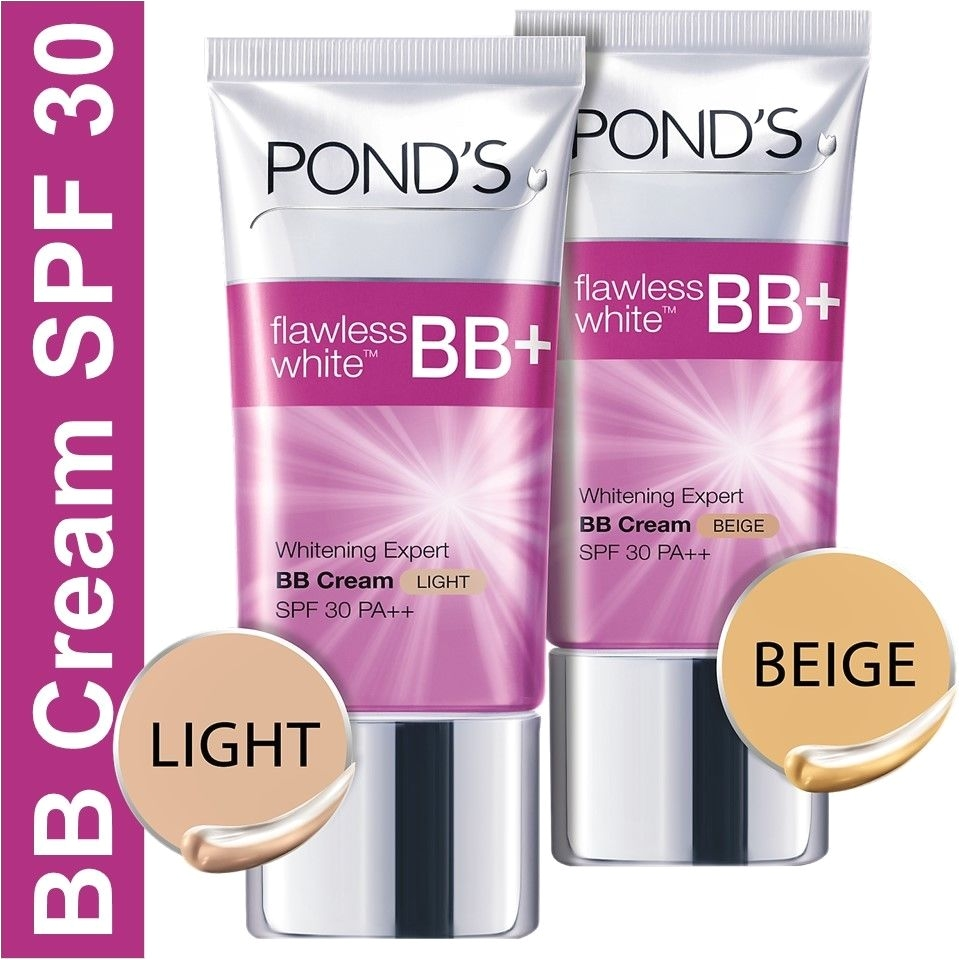 25g ponds flawless white bb cream whitening expert skin spf 30 light beige 1 of 1only 0 available