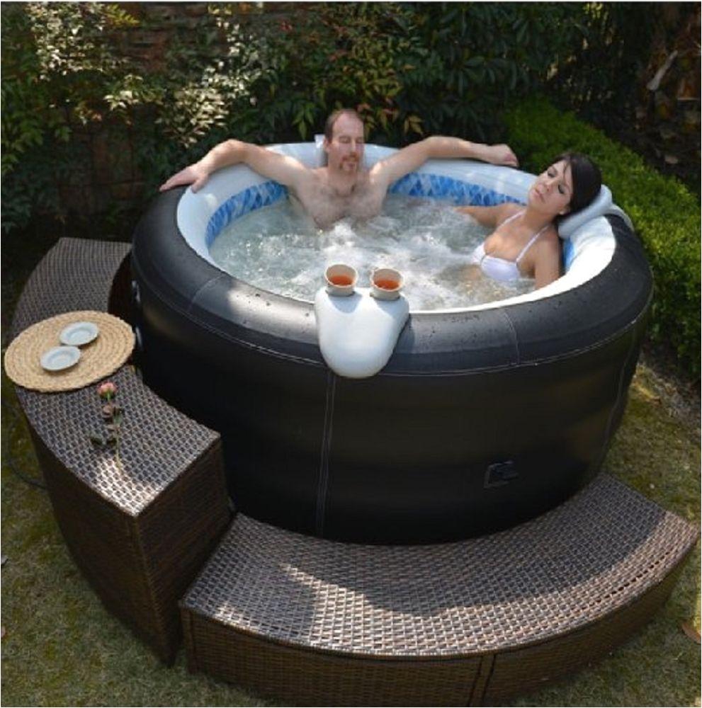 new inflatable family garden aqua spa portable pool bubble jet hot bath tub