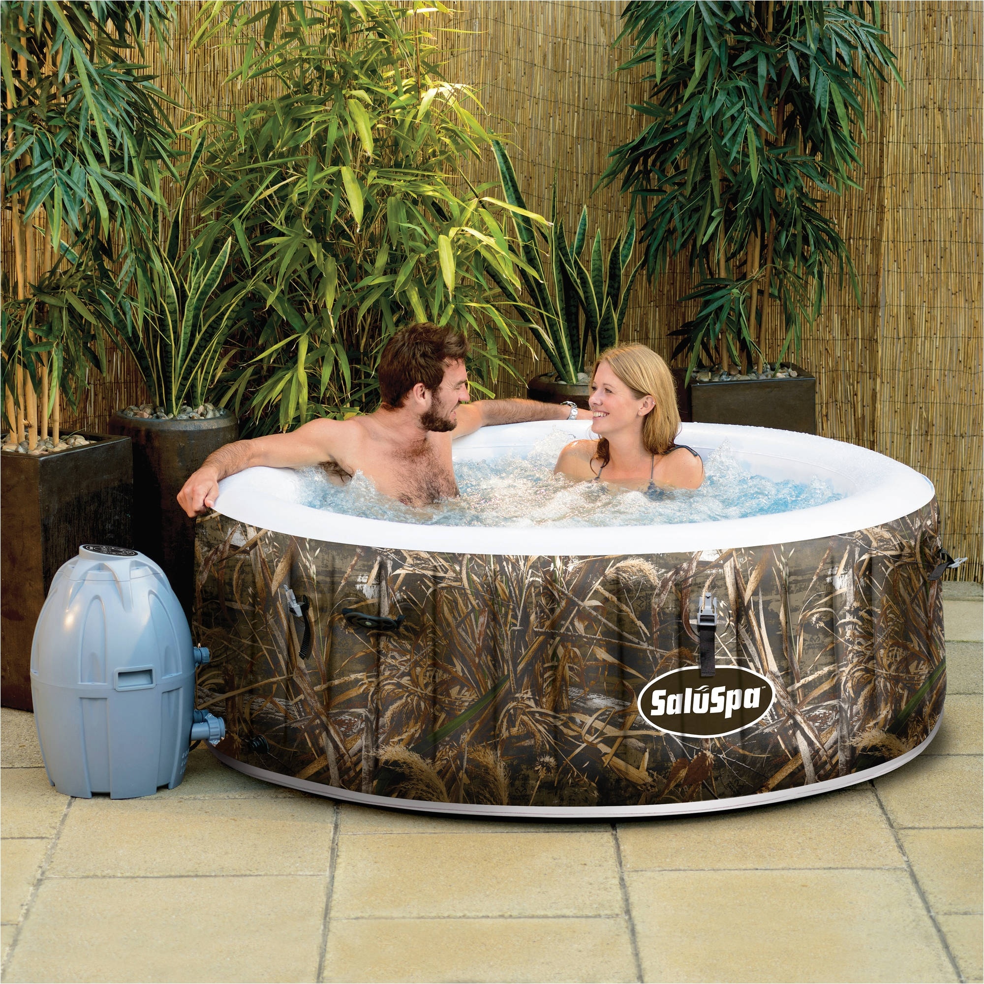 saluspa realtree max 5 airjet 4 person portable inflatable hot tub spa walmart com