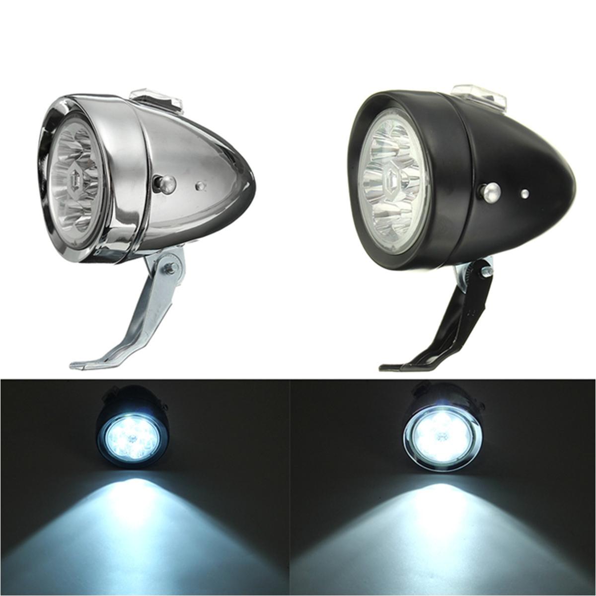 retro vintage e bike bike front light led headlight head fog lamp with bracket