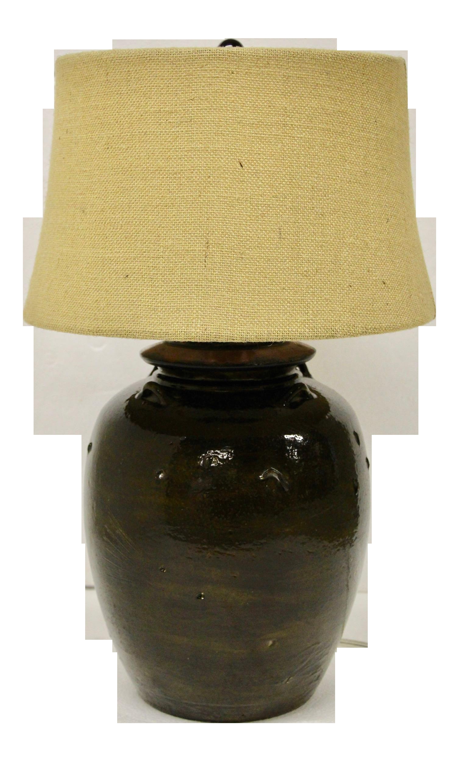 pottery barn courtney ceramic table lamp with burlap shade 5124