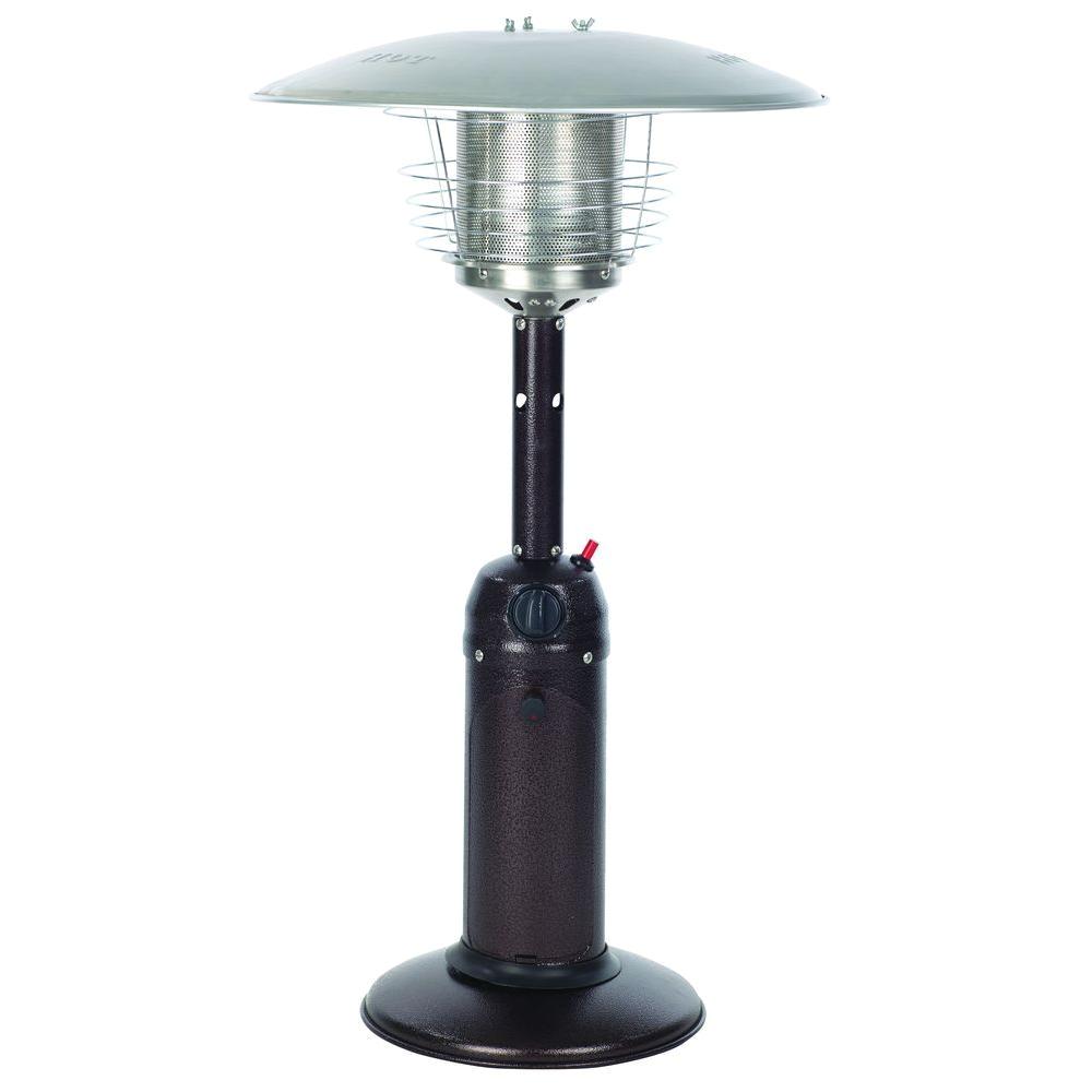 10000 btu hammered bronze tabletop propane gas patio heater