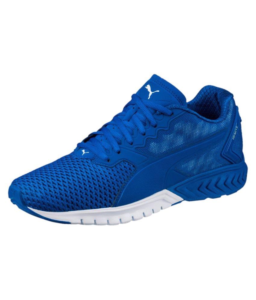 puma ignite dual mesh running shoes