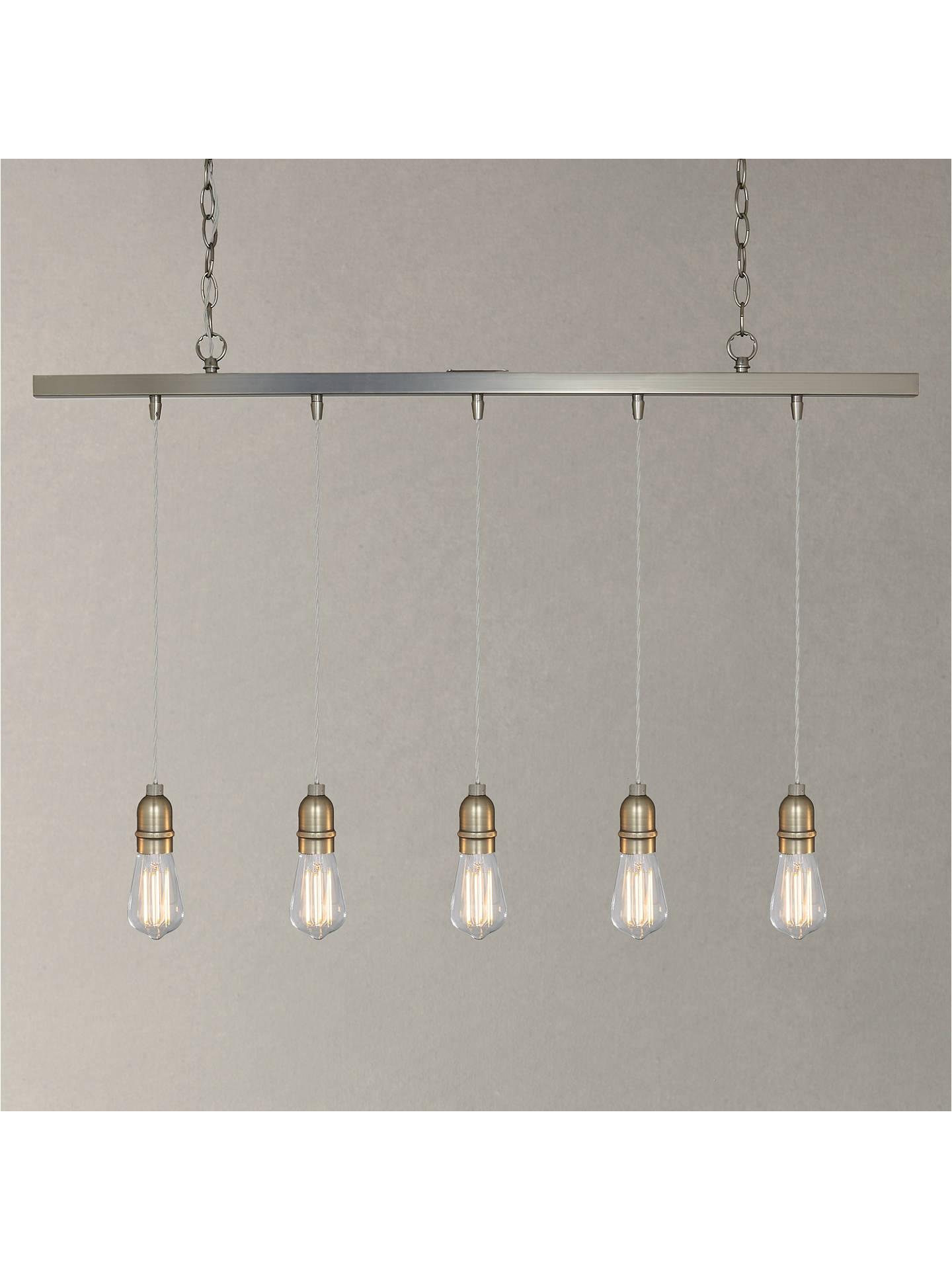 buyjohn lewis bistro bar pendant ceiling light 5 light pewter online at johnlewis