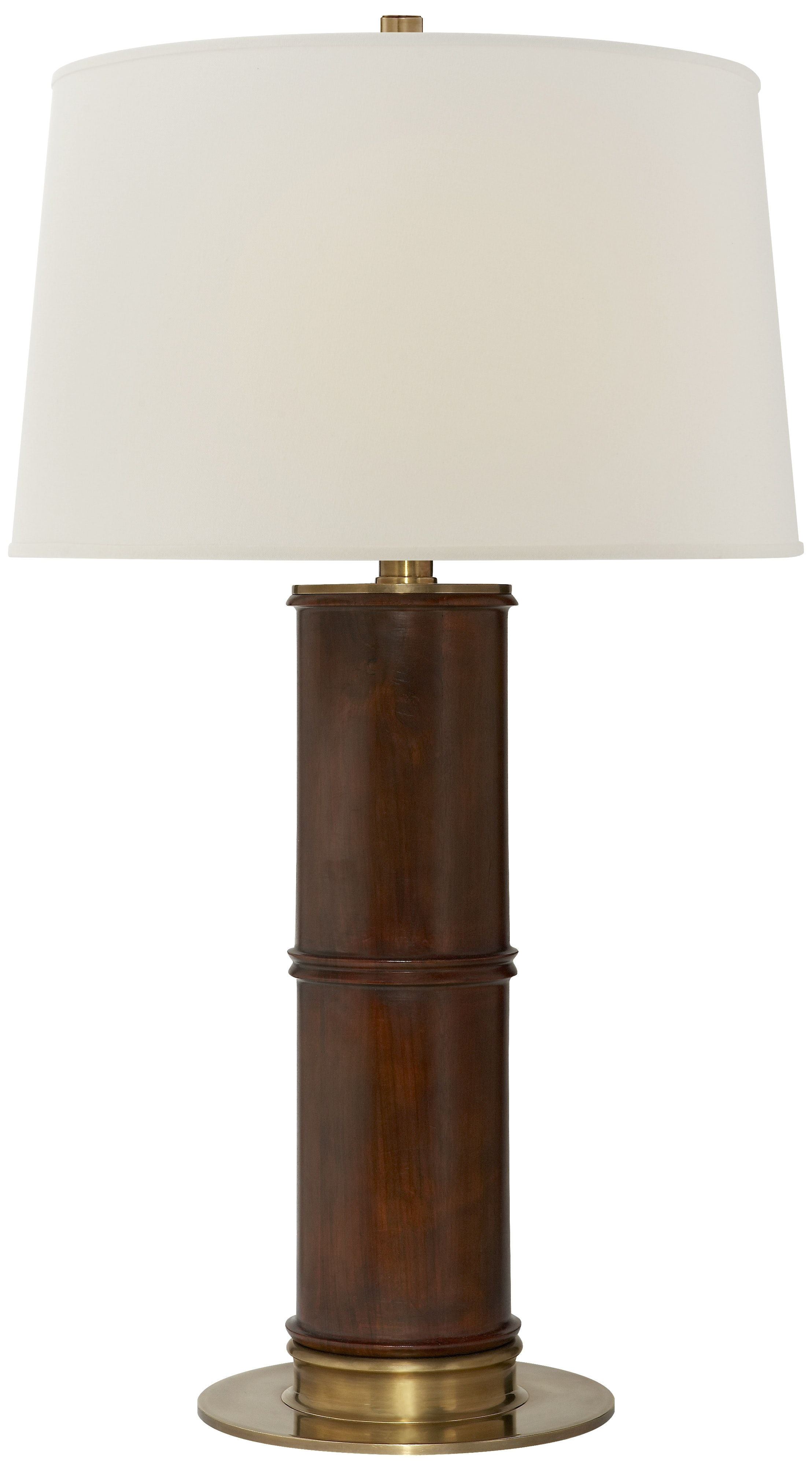 healey table lamp in mahogany