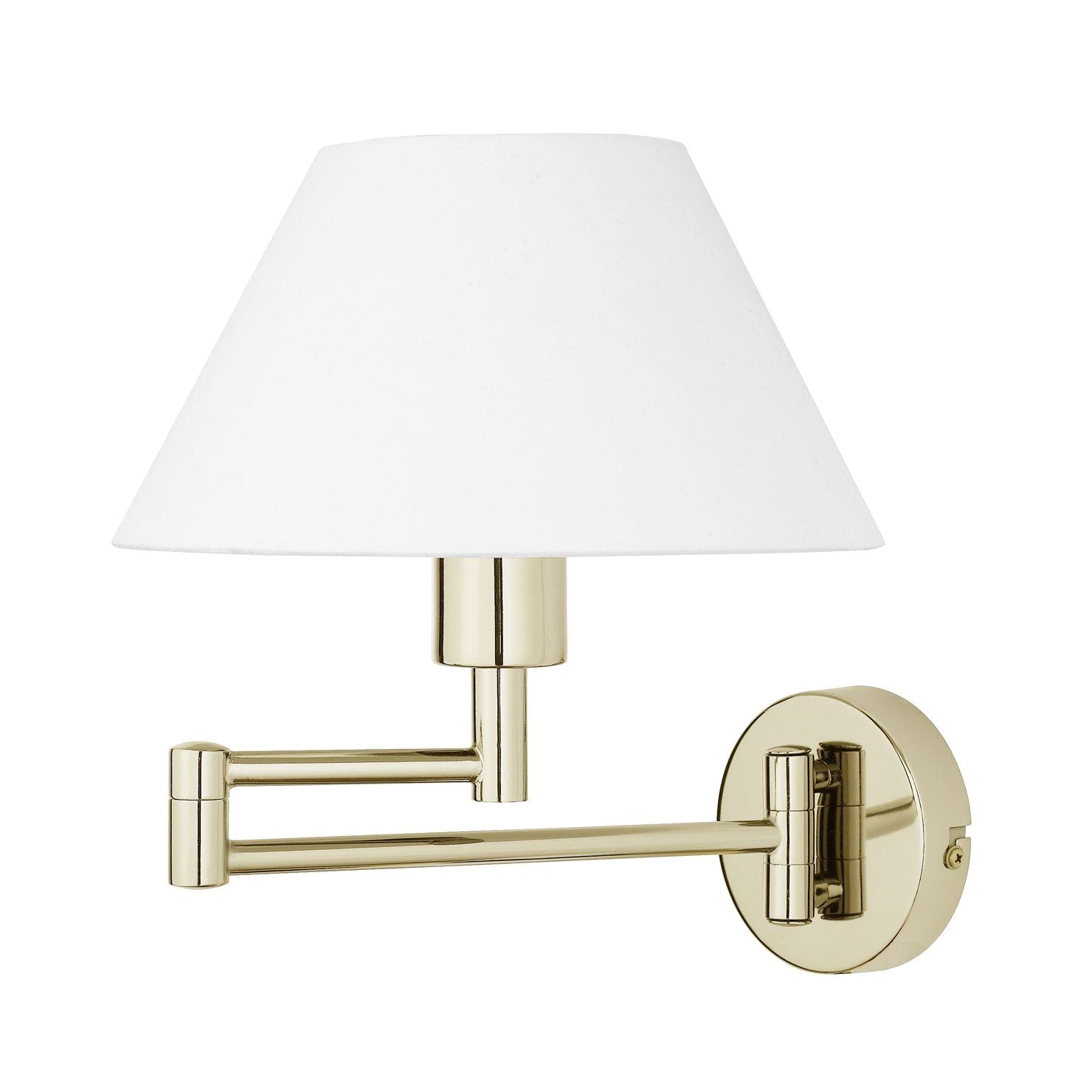 gustaf swing arm wall lamp brass