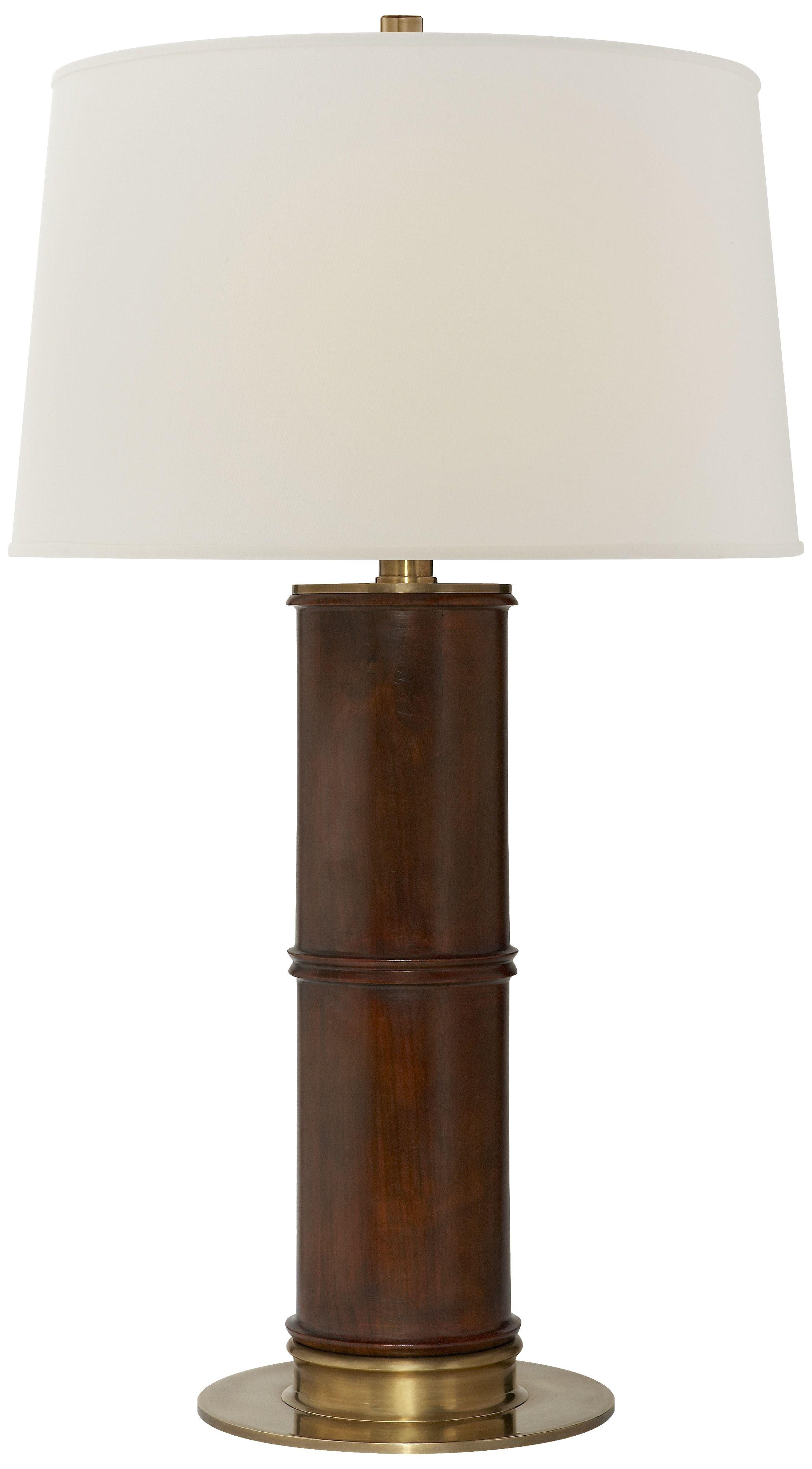 Ralph Lauren Rectangular Crystal Lamp Healey Table Lamp In Mahogany Rustic Furnishings Pinterest