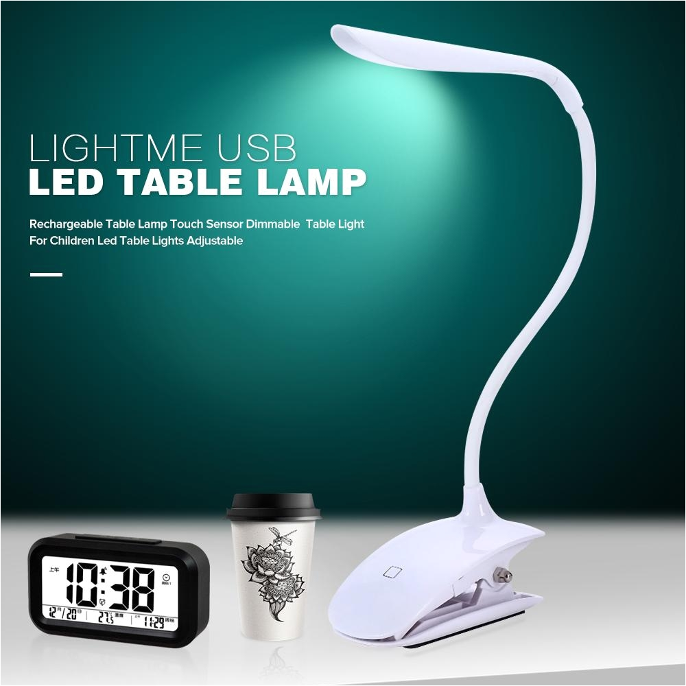 lightme table lamp usb rechargeable desk lamp touch sensor adjustable led table light kids study reading