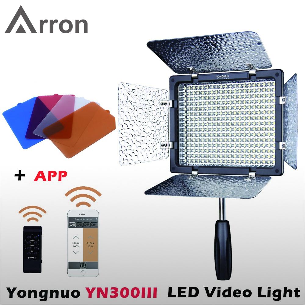 yongnuo yn300 iii yn 300 lil 5500k cri95 pro led video light with remote control