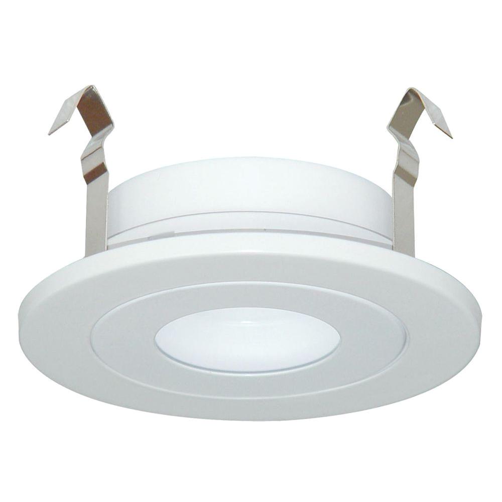 white recessed lighting pinhole trim with aluminum reflector