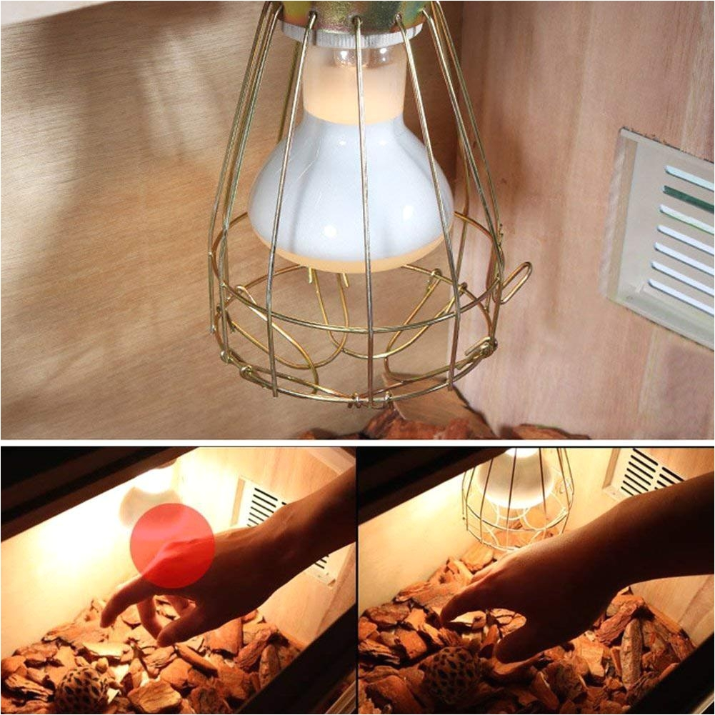 leegoal anti scalping reptile turtle heat lamp light lampshade incubator heating light protection net for