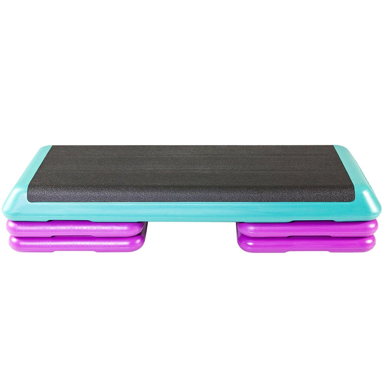 amazon com the step original aerobic platform health club size with four original risers step platforms home improvement