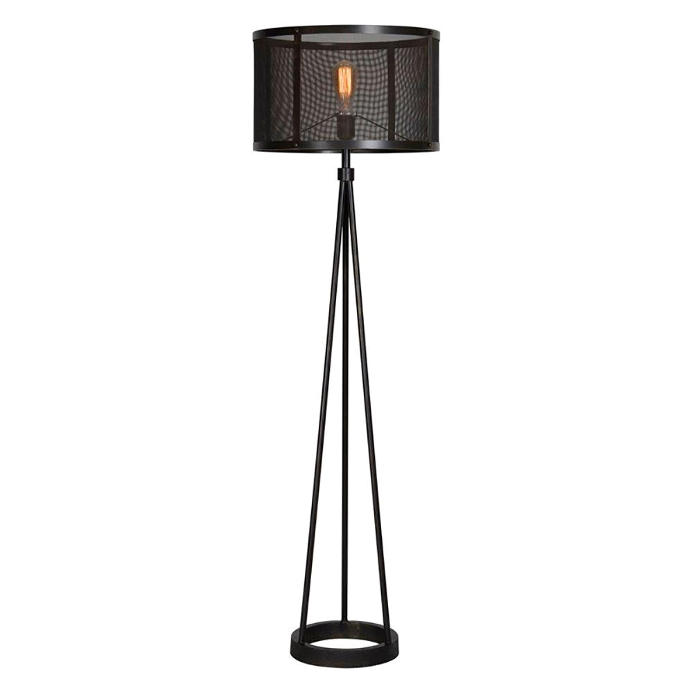 renwil livingstone 60 in black floor lamp