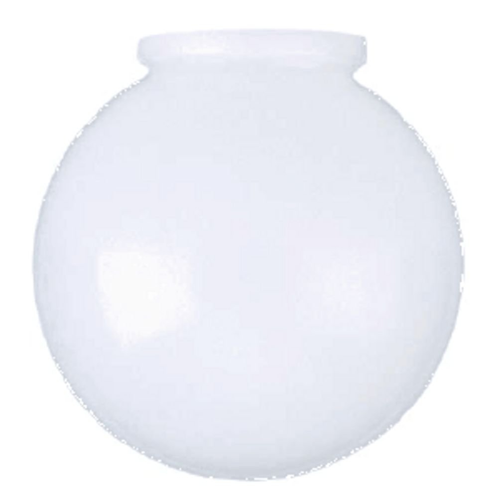 amazon com 6 inch white glass globe 3 1 4 inch fitter opening home improvement