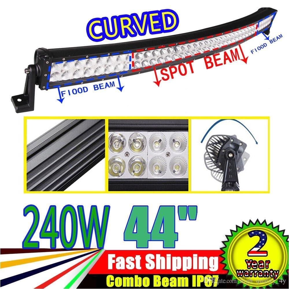 42 inch 140w 6000k curved car led work light bar offroad fog roof driving lamp for car camper boat truck tractor atv jeep suv 4wd 12v 24v led lights