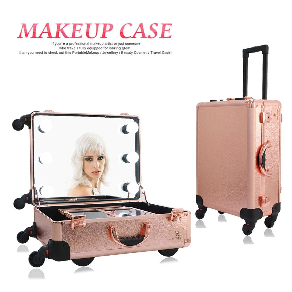 30 design vanity light up mirror rolling makeup