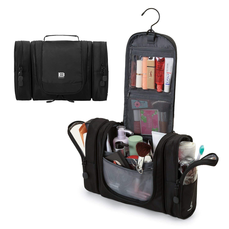amazon com bagsmart travel cosmetic organizer toiletry bags makeup case black beauty