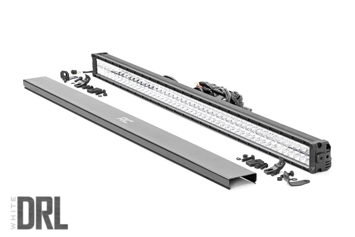 50 inch cree led light bar dual row chrome series w