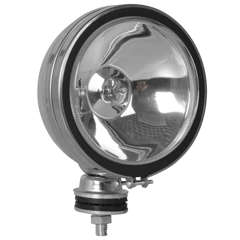 100 watt halogen off road lights chrome stud mount 1 pair 6 inch round led household light bulbs amazon com