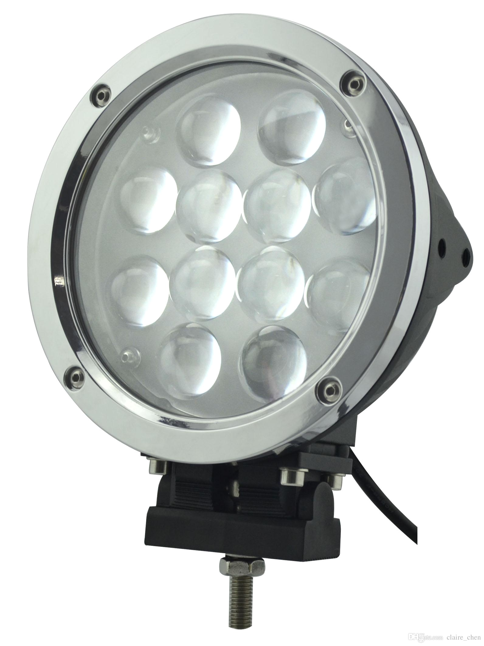 7 round 60w cree led driving light off road work light bar modular fog