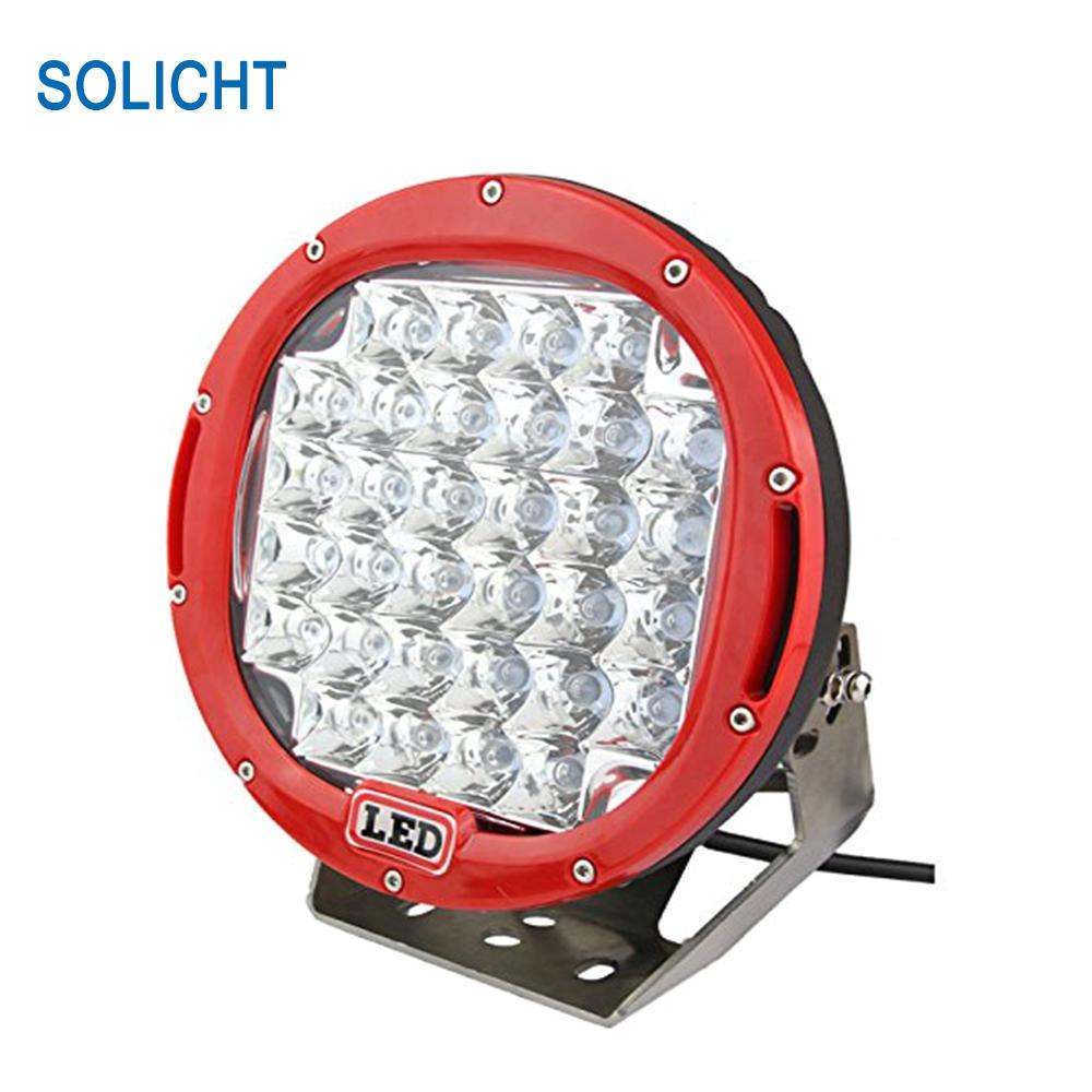 solicht 9 185w round led driving light ip68 4x4 4wd atv car off road driving fog lamp 12v 24v 5w offroad lights led spotlight in light bar work light from