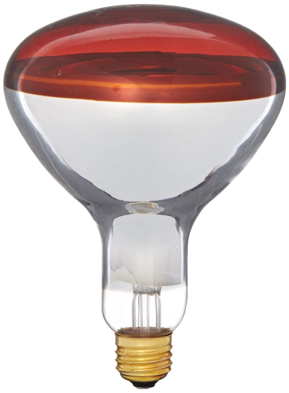 amazon com satco bulbs 64965 heat lamps 250 watts r40 reflector infrared light red medium e26 base incandescent heat lamp light bulb 250br40 red 2 pack