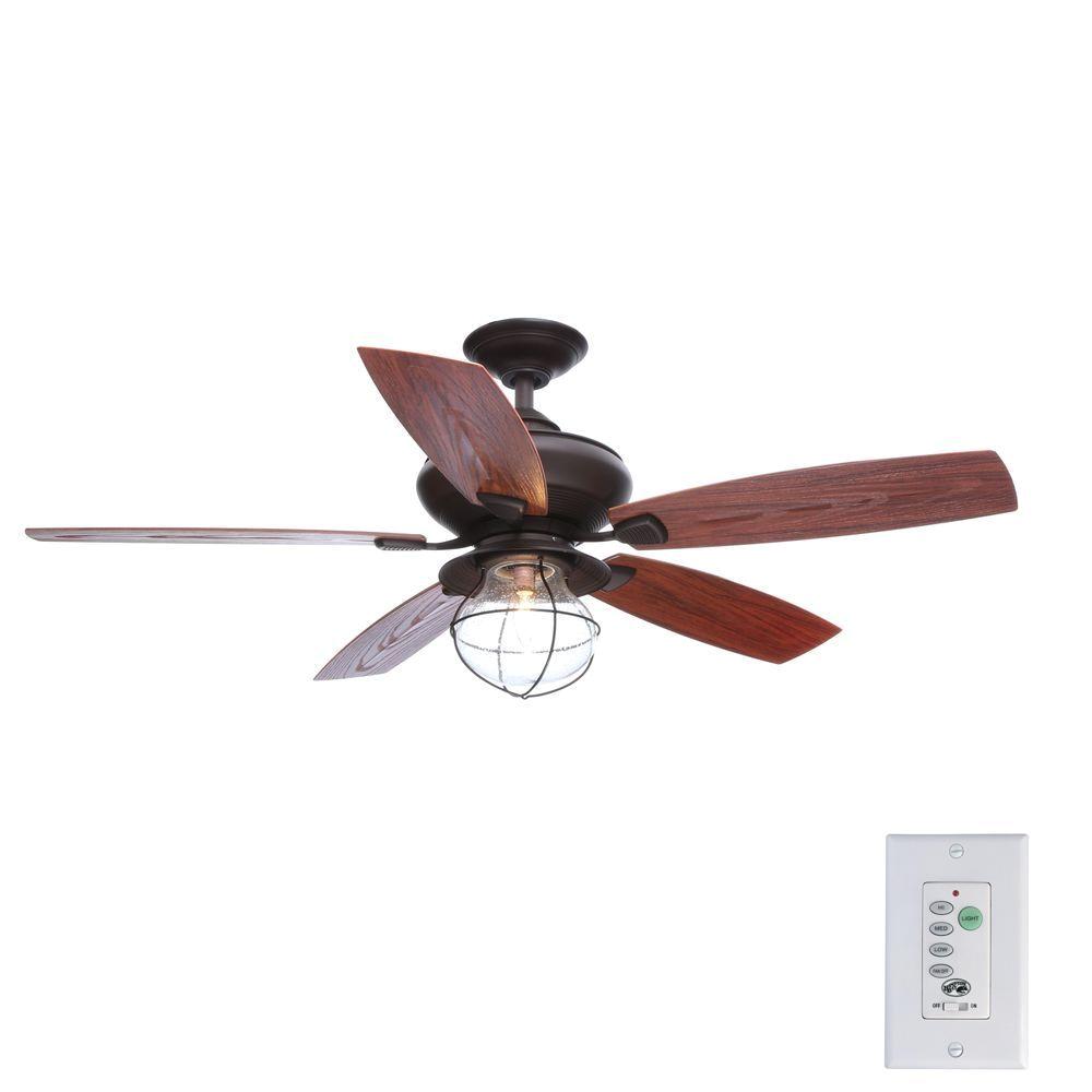 hampton bay sailwind ii 52 in indoor outdoor oil rubbed bronze ceiling fan