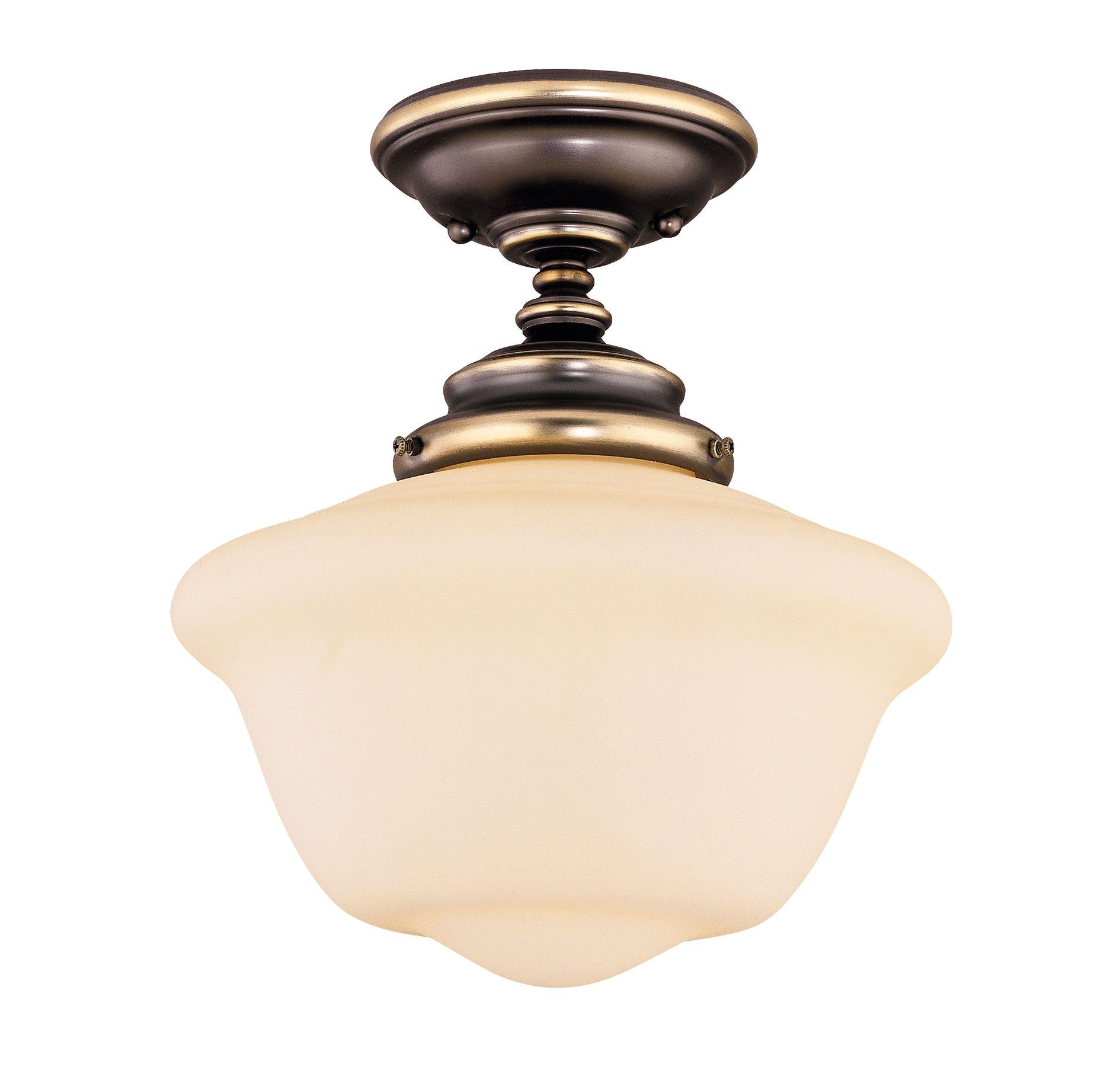 fey semi flush mount in warm bronze andover lighting on joss main