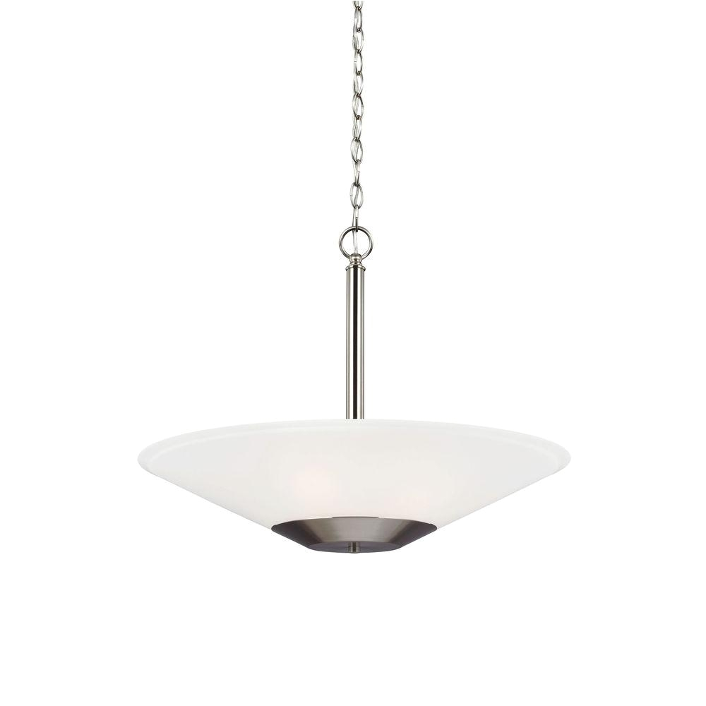 ashburne 3 light brushed nickel indoor pendant