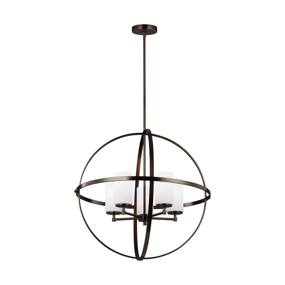 alturas 27 25 in w 5 light brushed oil rubbed bronze orb chandelier