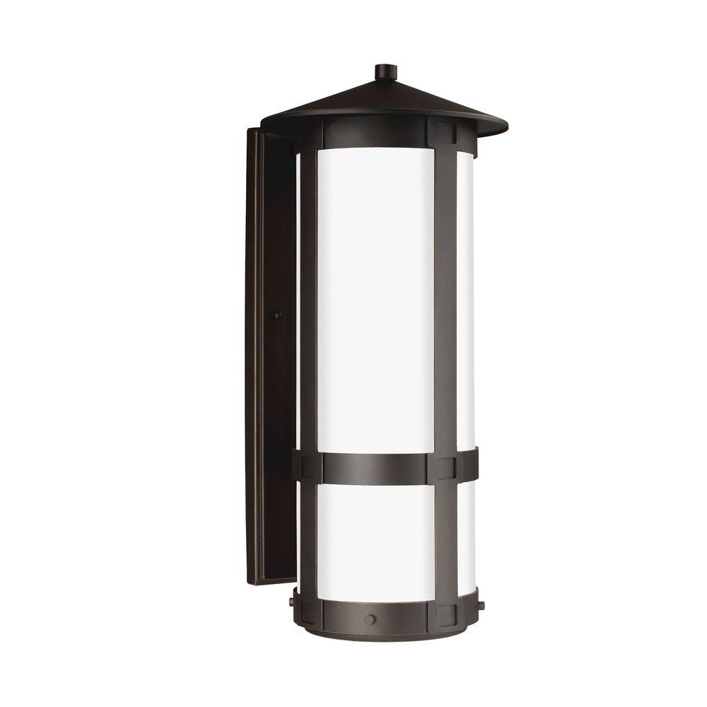sea gull lighting groveton 1 light antique bronze wall lantern