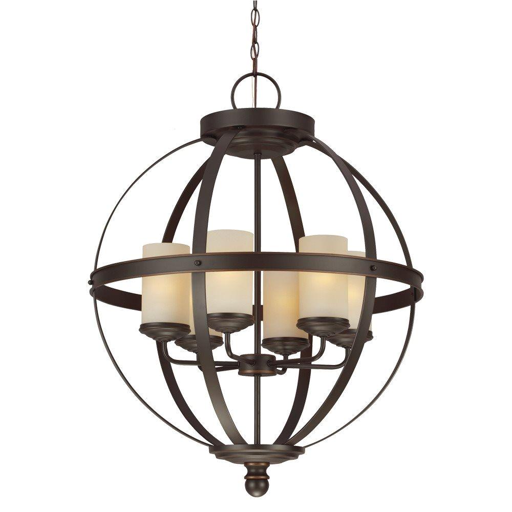 sea gull lighting 3190406 715 sfera 100w incand transitional chandelier sg 3190406 715