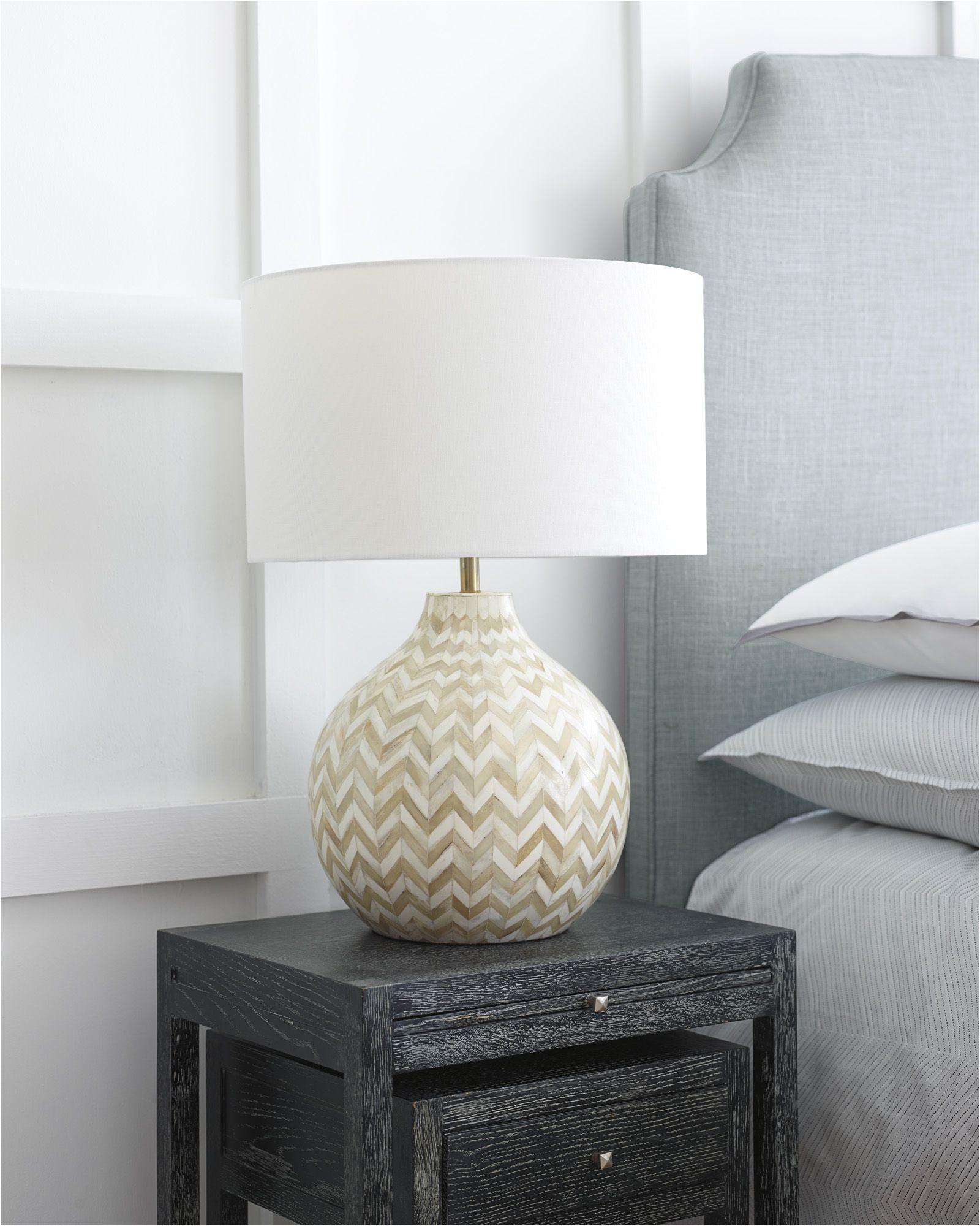 bone lamp nightstand bedroom inspiration via serena lily