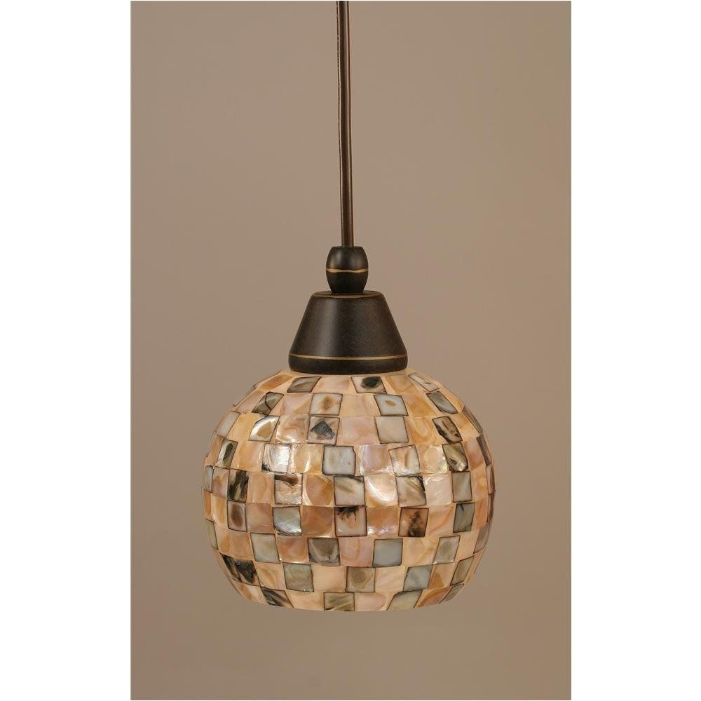 dark granite cord mini pendant with sea shell glass toltec lighting island pendant lightin