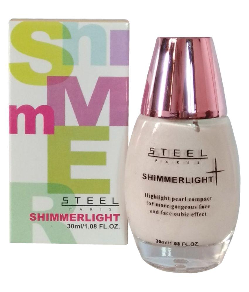 steel paris cream foundation shimmer light 30 gm