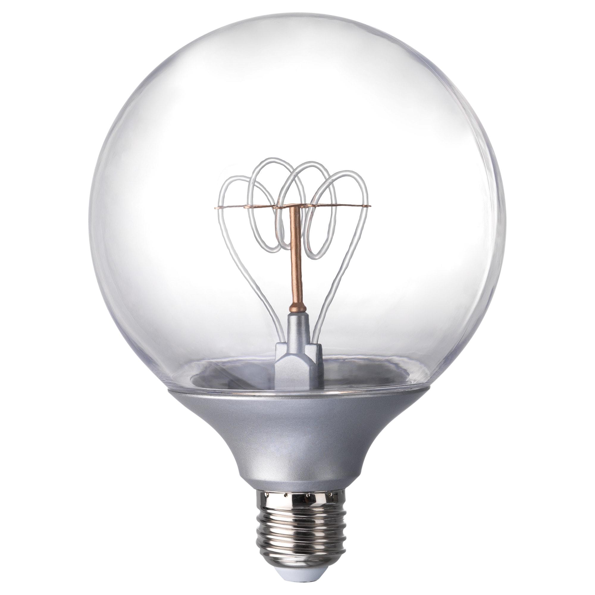 ikea nittio led bulb e27 20 lumen gives a nice decorative light