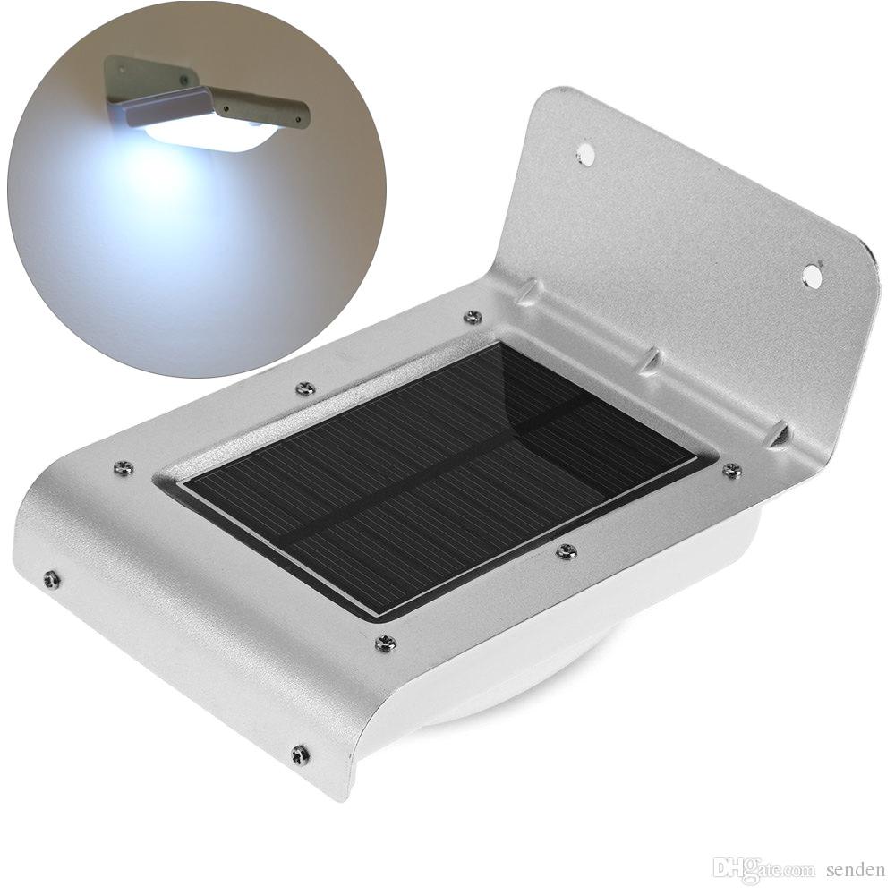 wholesale waterproof 16 led solar light outdoor lamp energy saving wall lightmotion sensor detector solar lights for garden yard decoration 16 led solar