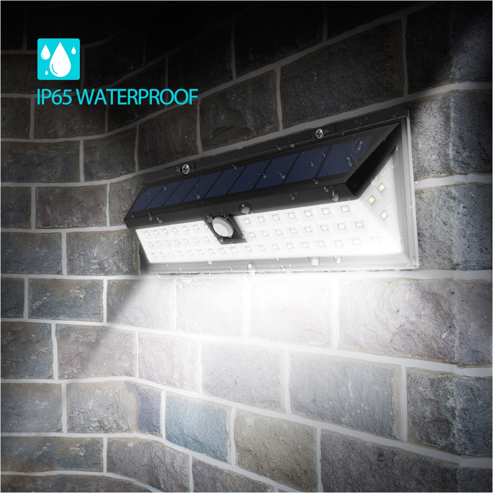 54 led solar lights outdoor waterproof solar power lights with 120a wide angle motion sensor solar for garden patio path lighting walmart com