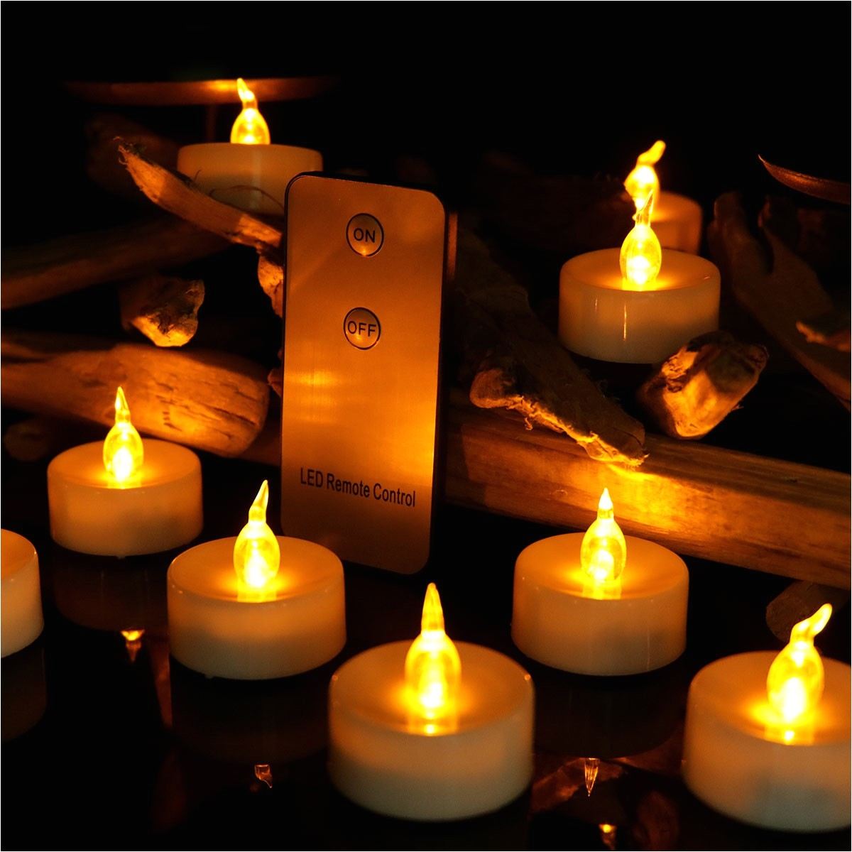 battery operated votive led tea lights with remote control