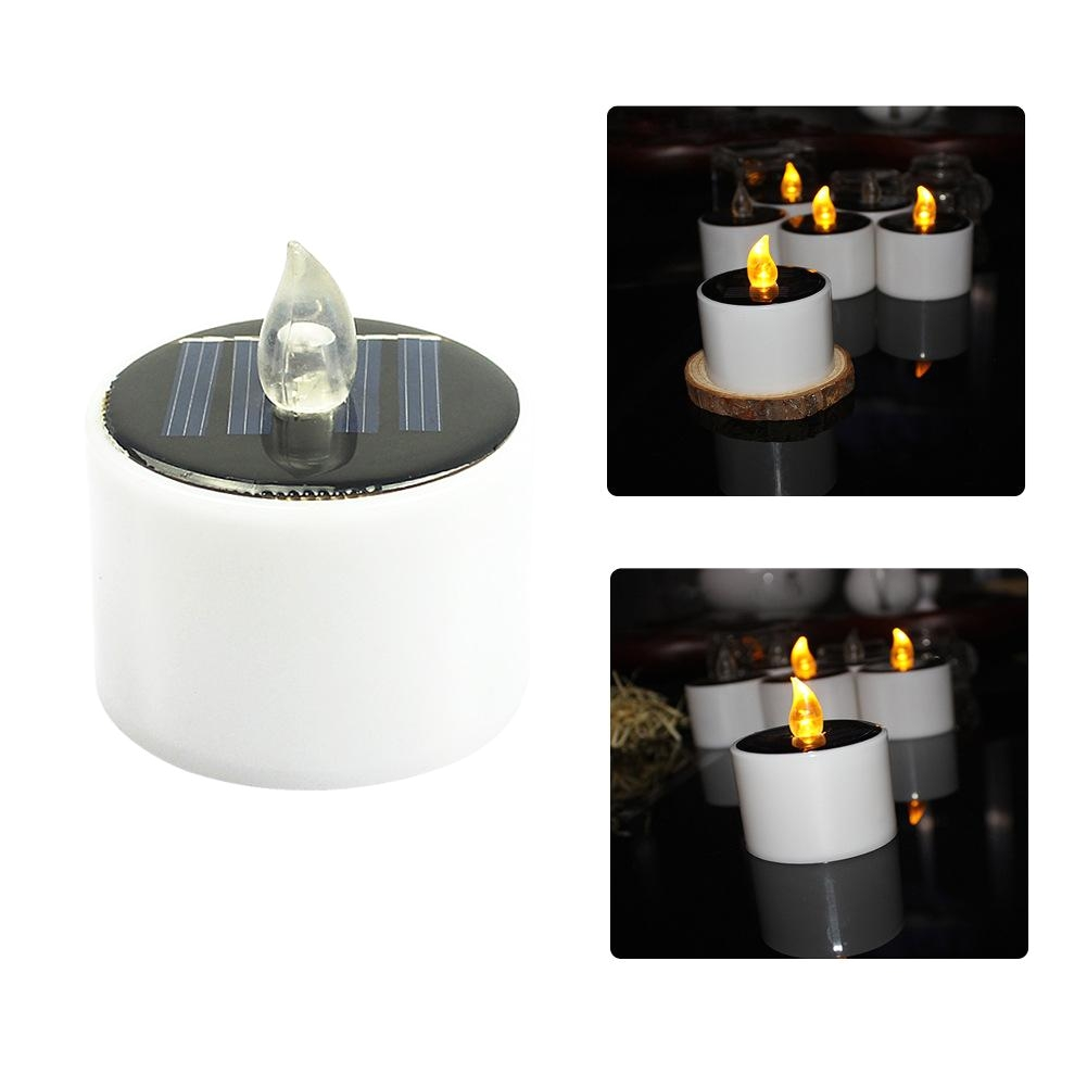 solar energy candle lamp you have to turn on the lamp when it charges in the sun the lamp only light at dark place