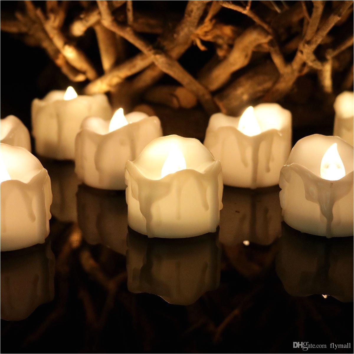 wholesale warm white flickering flameless candles with timer christmas wedding party led candle light battery operated tea lights electronic candles by