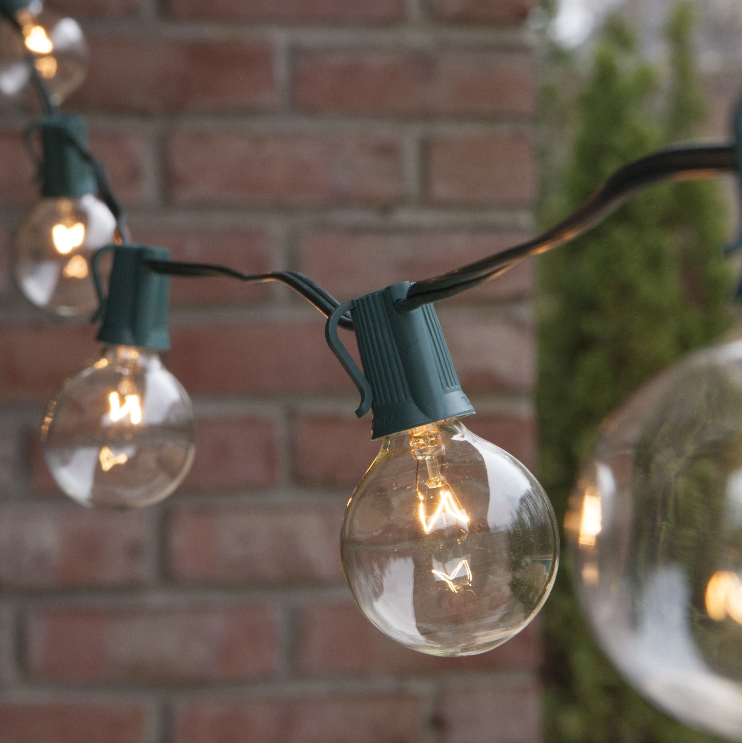 uk 30 led warm white crystal ball globe lights solar outdoor string