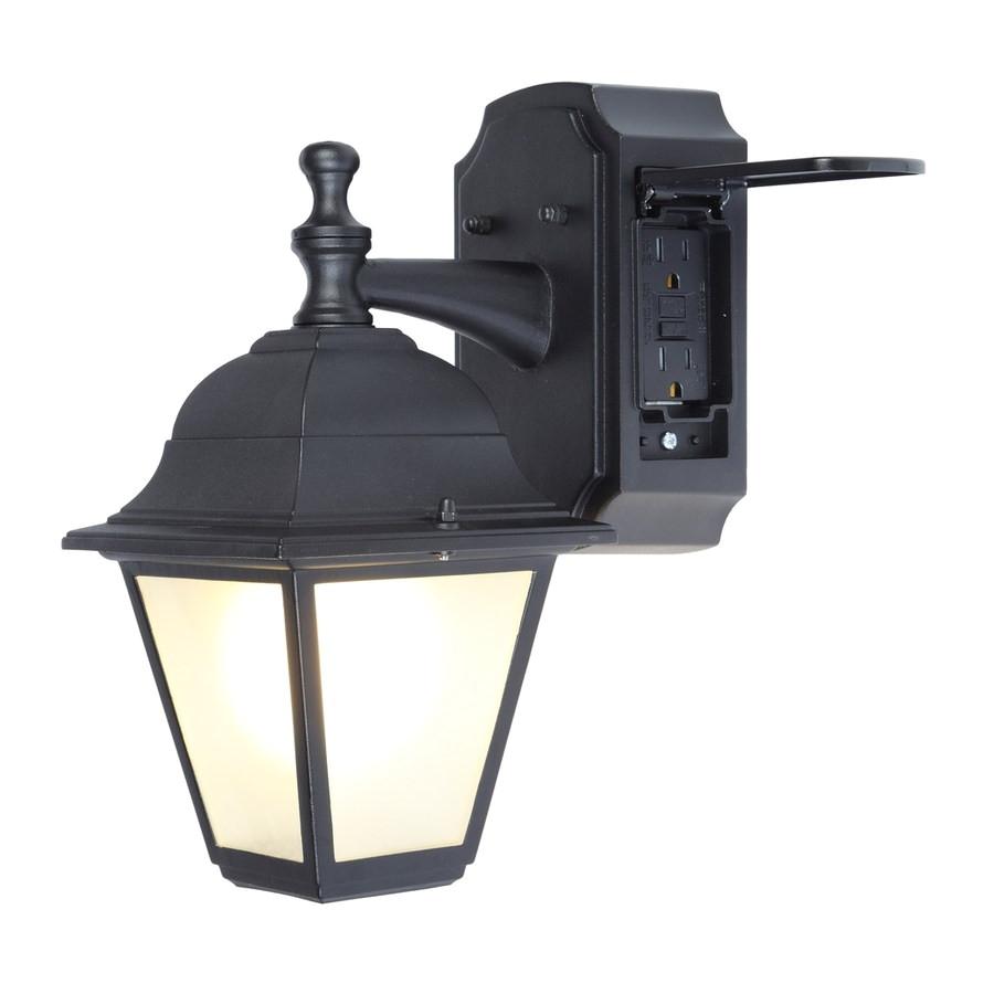 install outdoor light fixture elegant shop portfolio gfci 11 81 in h black outdoor wall light