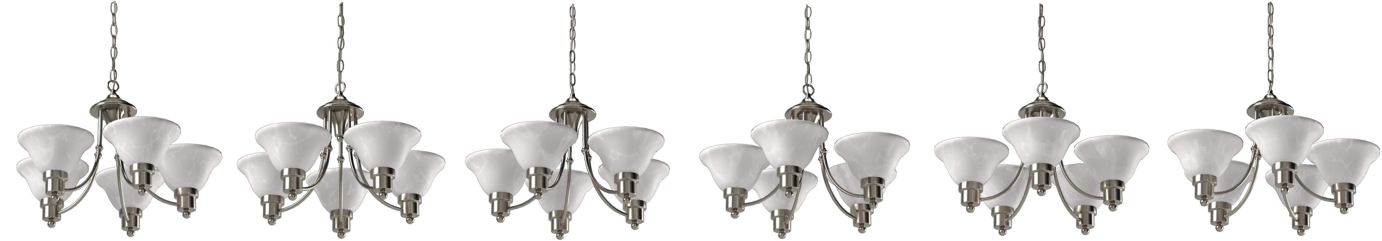 hardware house 544452 bristol 5 light chandelier brushed nickel lighting fixtures amazon com