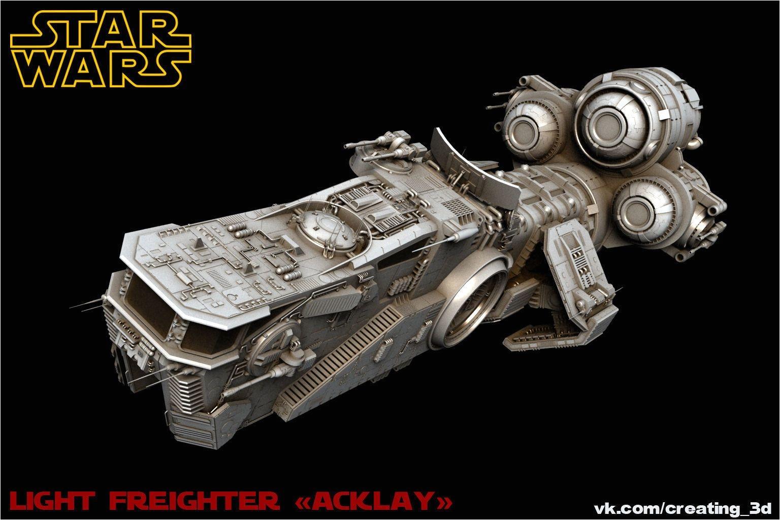 star wars light freighter acklay 3d model star wars light star and star wars ships