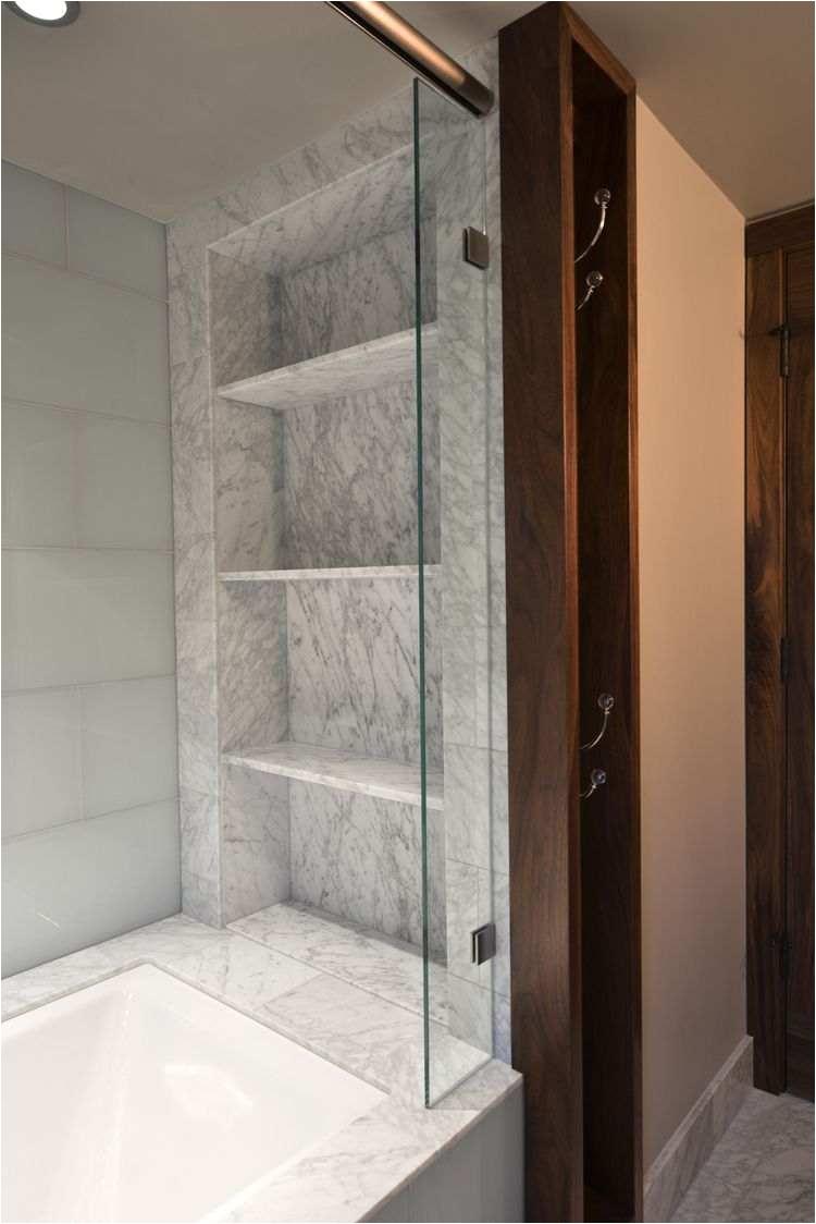 kohler frameless shower doors fresh carrara marble slab shelving niche wilson folding glass door of 47