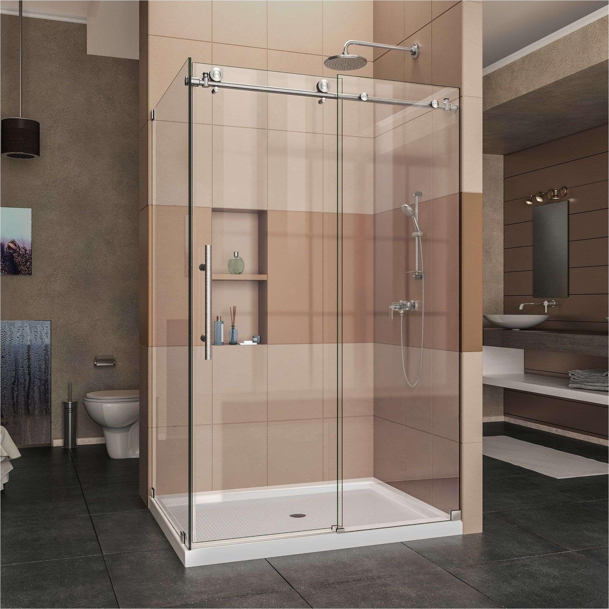 sliding glass shower doors elegant dreamline enigma x 32 1 2 in d x 48 3 8