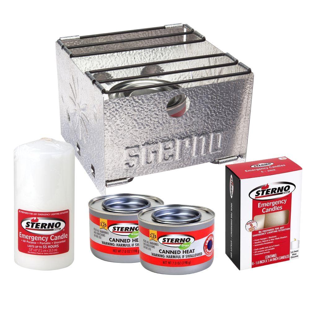 sterno candlelamp emergency preparedness kit